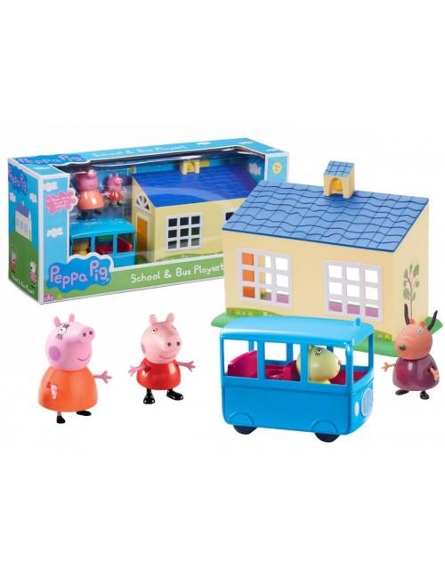 ŚWINKA PEPPA Szkoła + Autobus Zestaw TM Toys