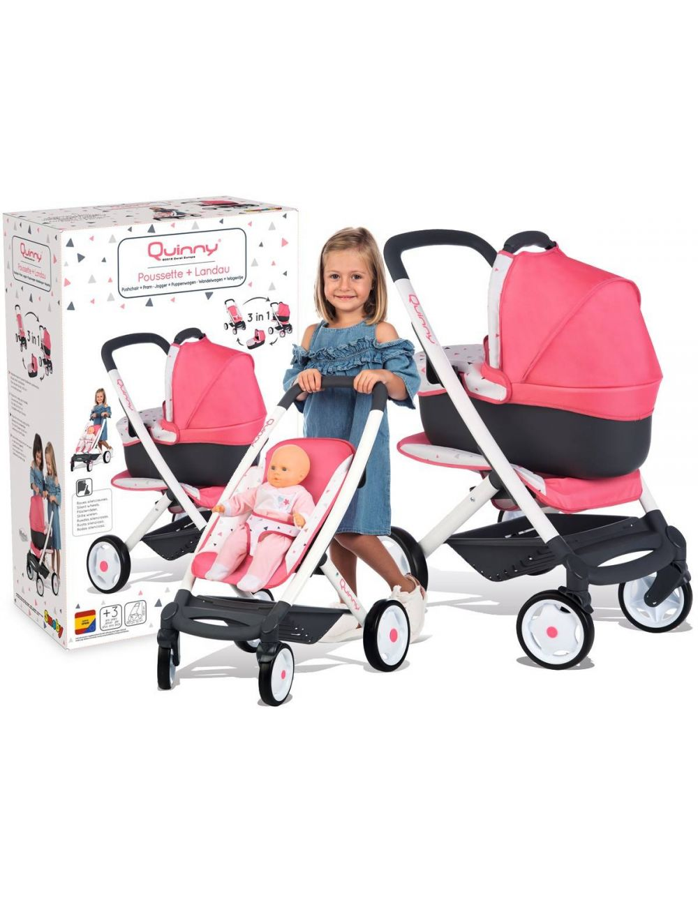 Smoby wózek dla lalek Maxi Cosi 253198