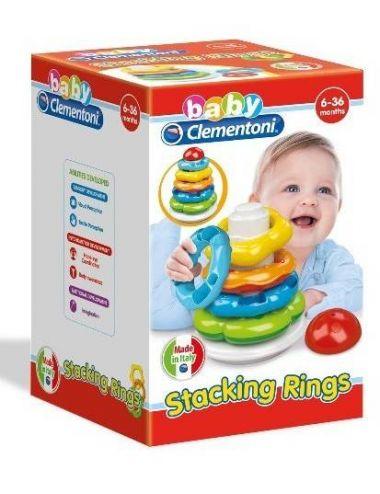 Baby Clementoni KLOCKI Kolorowa Wieża Układanka Klocuszki 17103