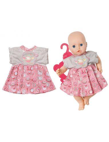 Baby Annabell SUKIENECZKA dla lalki UBRANKO SUKIENKA szaro-różowa