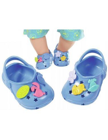 Baby Born buciki crocsy z przypinkami niebieskie