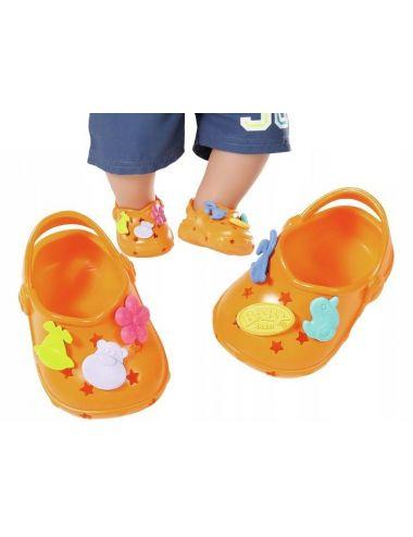 Baby Born buciki CROCS z Przypinkami Pomarańczowe buty Zapf Creation