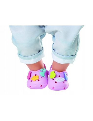 Baby Born buciki Crocsy z przypinkami fiolet