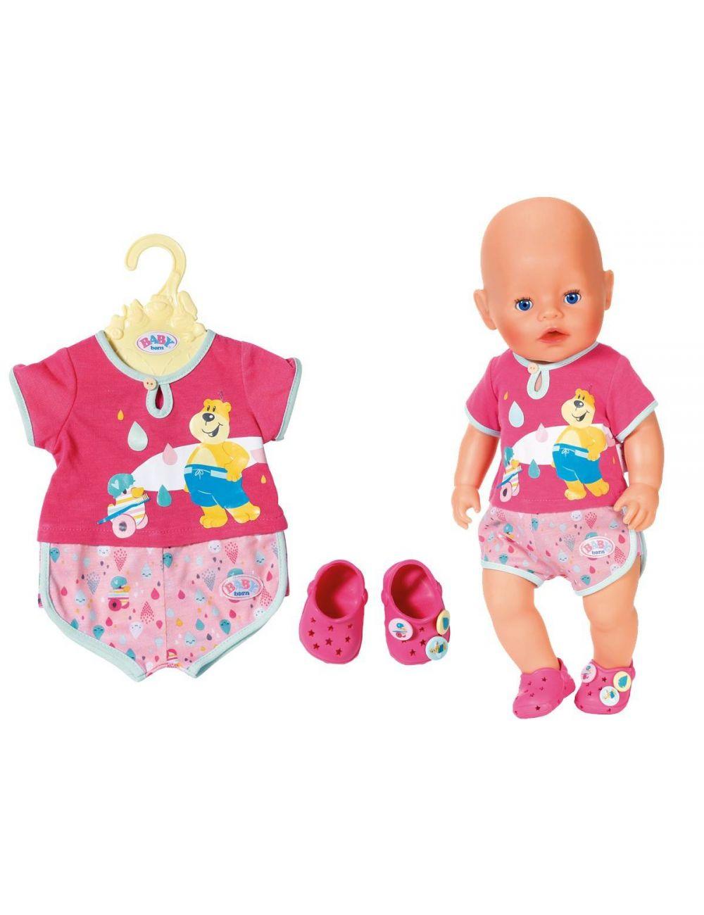 tanie z rabatem Wielka wyprzedaż sklep internetowy Baby Born Piżamka Ubranko Dla Lalki z Bucikami CROCS Zapf Creation