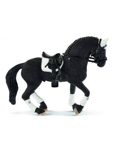 Schleich 42457 koń rasy Fryzyjskiej zestaw truniejowy