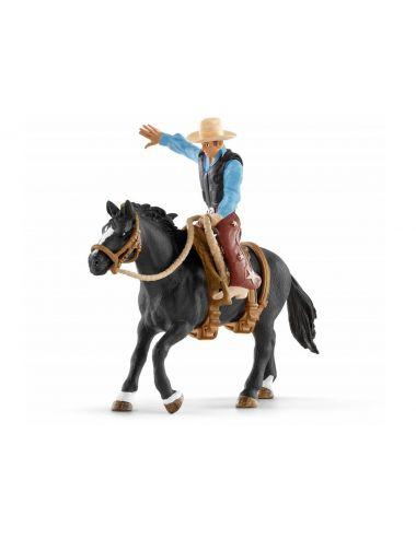 Schleich 41416 Kowboj Siodajacy dzikiego konia