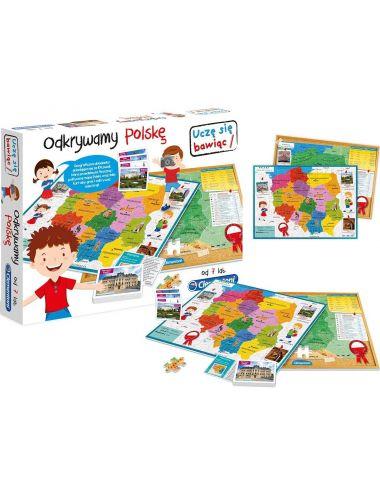 Baby Clementoni ODKRYWAMY POLSKĘ Układanka i Karty Mapa Polski