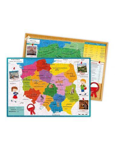 Clementoni Odkrywamy Polskę karty i układanka