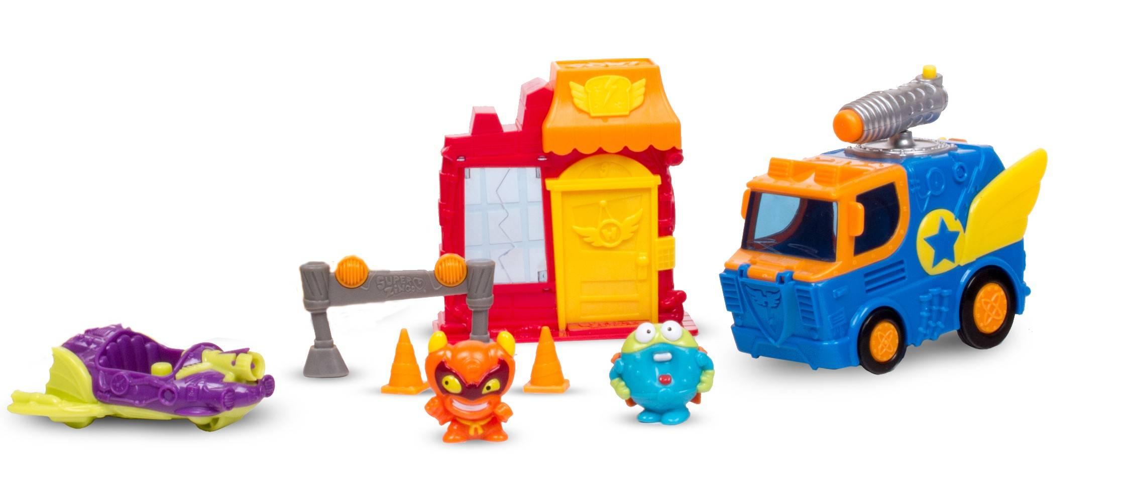 Super Zings mission bakery blast zestaw figurki pojazdy