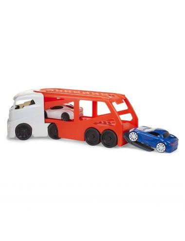 Little Tikes LAWETA Naczepa Z Dwoma Samochodzikami Czerwona Duża