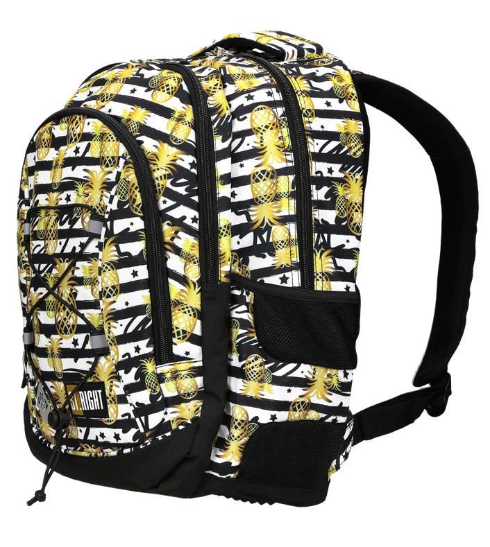 ST.RIGHT plecak szkolny zlote tropiki BP32
