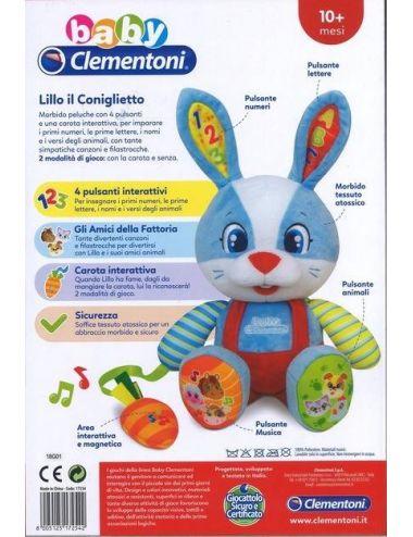 Clementoni Wesoły KRÓLICZEK LILLO Interaktywny Pluszak 50073