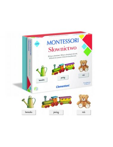 Clementoni Montessori SŁOWNICTWO Nauka Czytania Słowa Wyrazy 50077