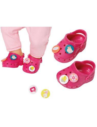 Baby Born buciki CROCS z przypinkami ciemny róż Zapf Creation