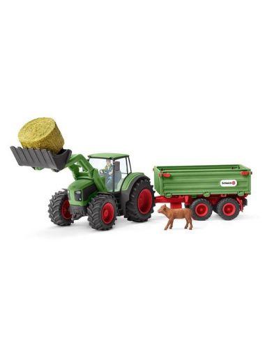 Schleich 42379 Traktor z Przyczepą