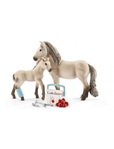 Schleich 42430 Islandzki Koń Ze Źrebakiem i Apteczka