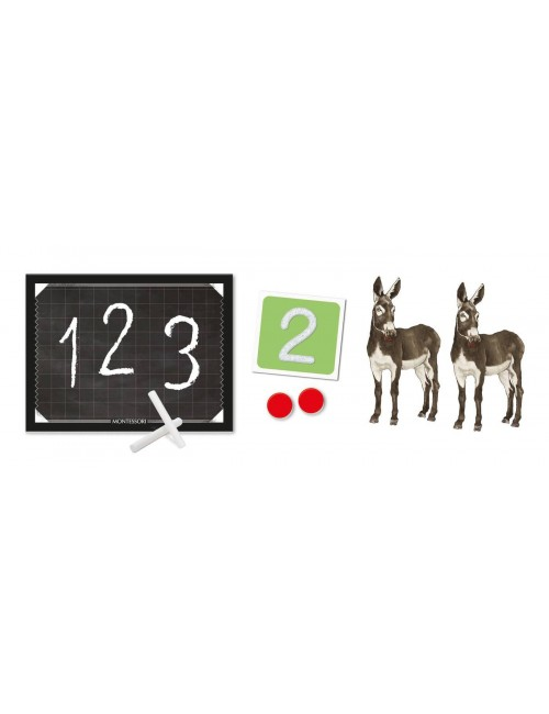 Clementoni montessori liczby akcesoria zawartość zestawu