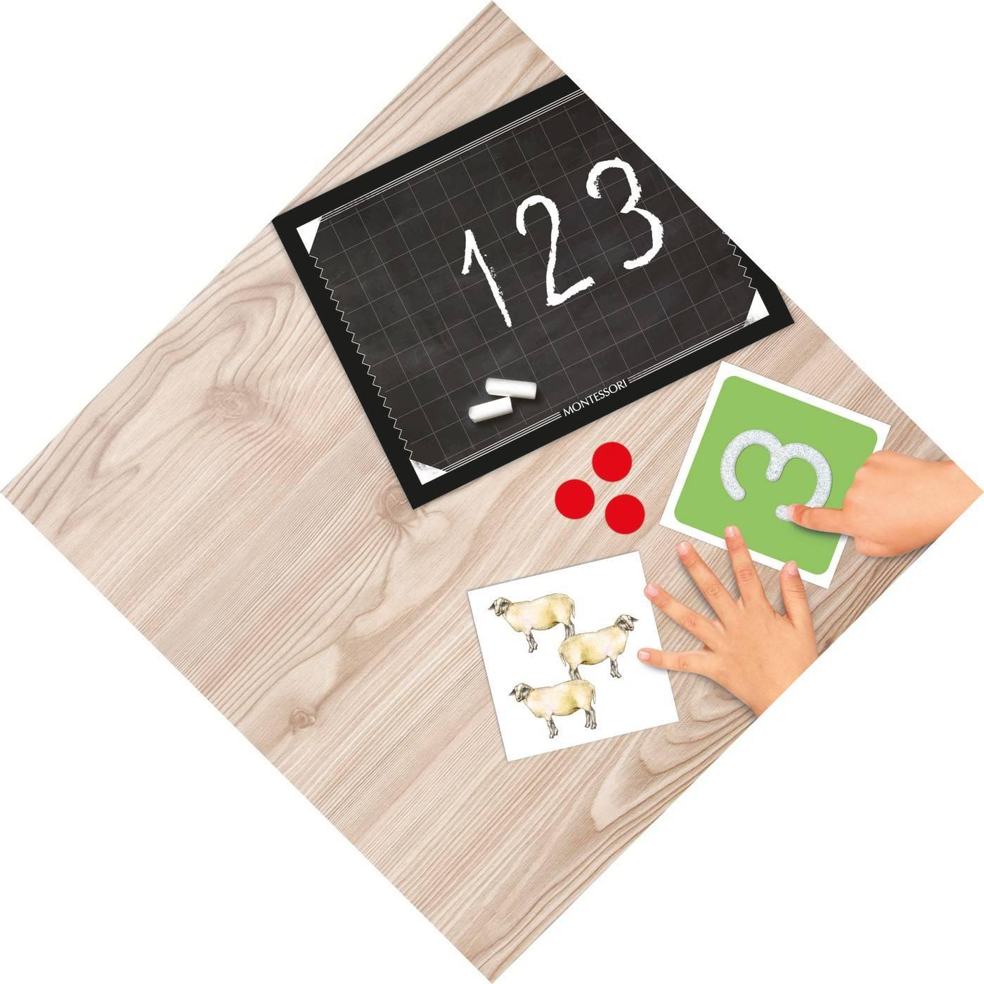 Clementoni montessori liczby zabawa plansza
