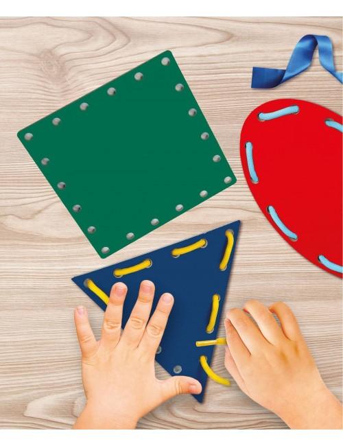 Montessori figury i sznurki zabawa