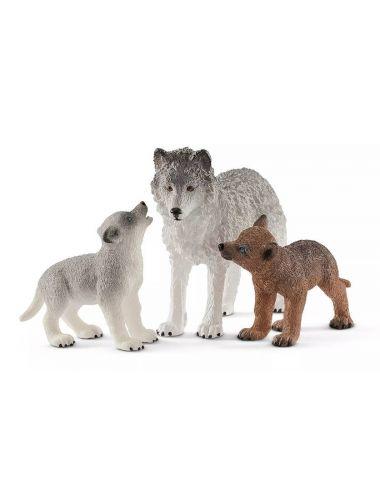 Schleich 42472 Wilczyca z małymi Wilkami