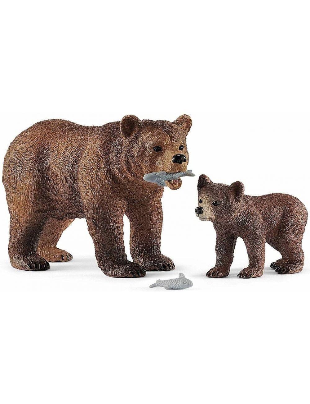 Schleich 42473 matka Grizzly z małym Niedźwiedziem