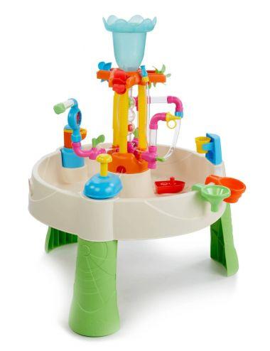 Dzieci bawią się fabryką fontann Little Tikes