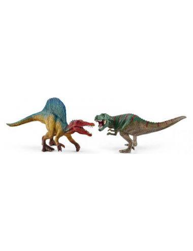 Schleich 41455 zestaw Spinosaurus i T-Rex mini