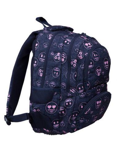 St. Right Plecak Szkolny 4 Komorowy Pink Emoji 23 l