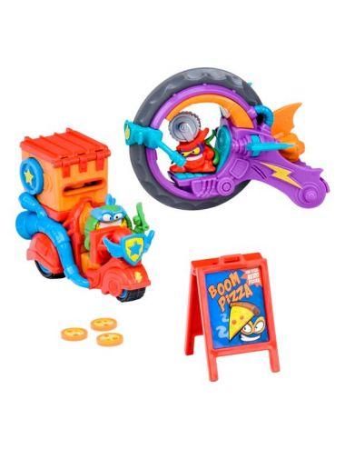 Super Zings Pizza Rider 2 Figurki 2 Pojazdy Seria 3 Doręczyciel Pizzy