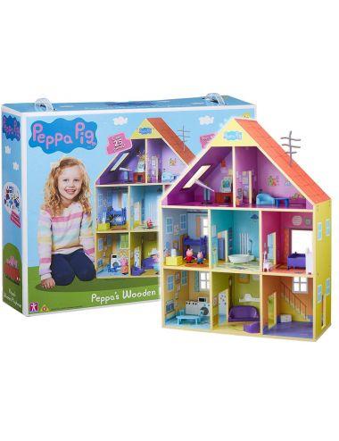 Tm Toys Drewniany Domek Świnki Peppy z Meblami i Akcesoriami