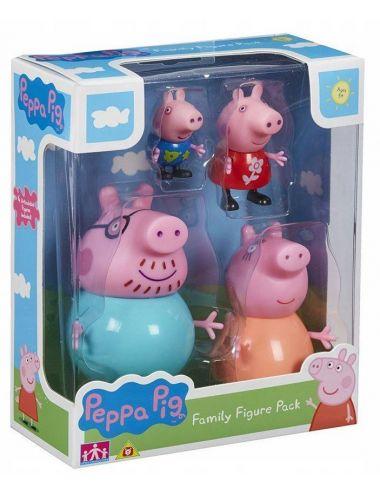 Świnka Peppa RODZINA 4 FIGURKI Tm Toys