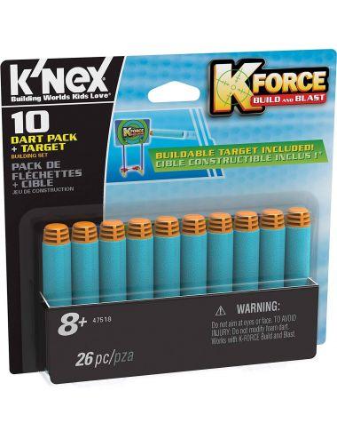 Knex 47518 K-Force Strzałki do nerf 10 szt tarcza