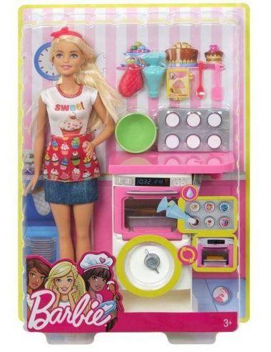 Barbie Domowe Wypieki ZESTAW Z LALKĄ FHP57