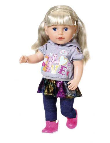 Baby Born Lalka Interaktywna 43 cm Siostrzyczka Blondynka 824603
