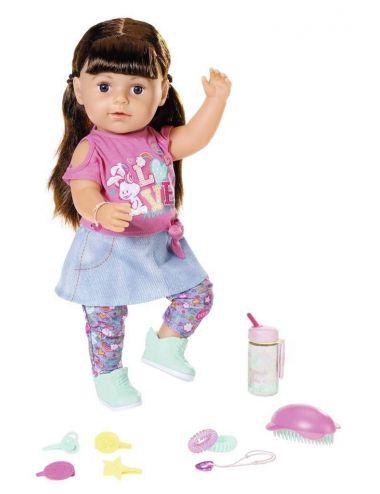 Baby Born Lalka interaktywna 43 cm Siostrzyczka Brunetka 827185