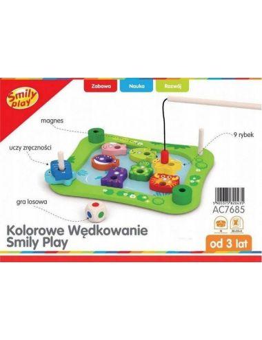 Smily Play KOLOROWE WĘDKOWANIE Gra EDU Drewniana