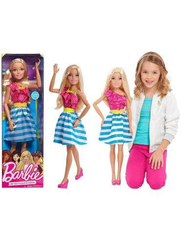 Lalka Barbie blondynka duża ruchoma 70cm