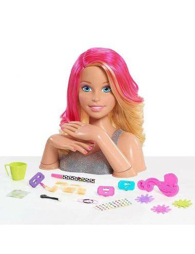 Barbie Głowa Blond do Stylizacji Deluxe 62530