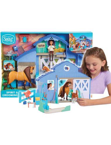 Spirit Duża stajnia laleczka i koń Mustang Duch Wolności