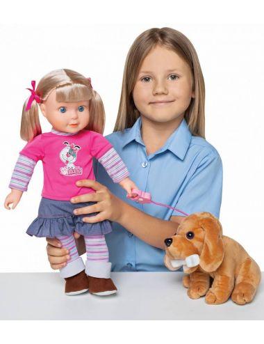 Lalka Natalia z Pieskiem 42 cm