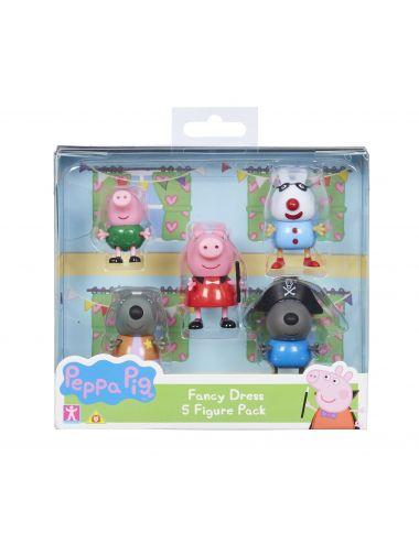Tm Toys Świnka Peppa Piekne Stroje 5 Figurek w Opakowaniu