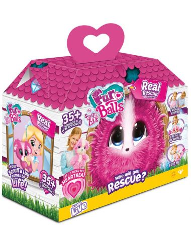 Tm Toys Fur Balls My Real Rescue Pink