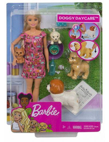 Barbie Lalka Opiekunka Piesków Zestaw FXH08 Mattel