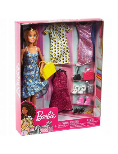 Barbie Zestaw Lalka + Ubranka + Akcesoria GDJ40