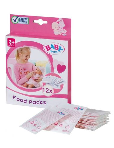 Baby Born Pokarm jedzenie dla lalki 12 saszetek Zapf Creation