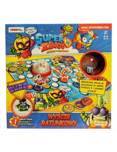 Super Zings gra wyścig ratunkowy figurka profesor k race