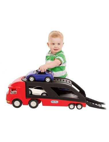 Little Tikes LAWETA Czerwona Z Dwoma Samochodami Sportowe Auta