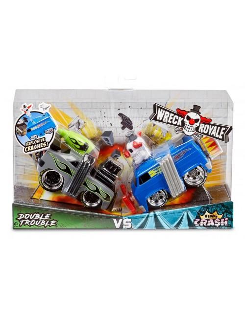 Wreck Royale Double Trouble Vs. King Cra$H dwupak zestaw autek opakowanie