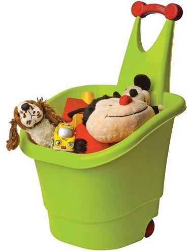 PalPlay pudełko na zabawki z Rączką na kółkach Zielone M569