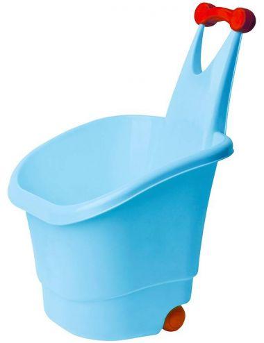 PalPlay Kosz na zabawki z Rączką na kółkach Niebieski M569